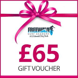 £65 Freewave Surf Academy Gift Voucher