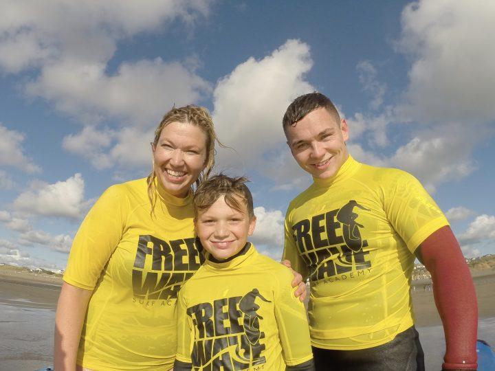 Family Surf Photo